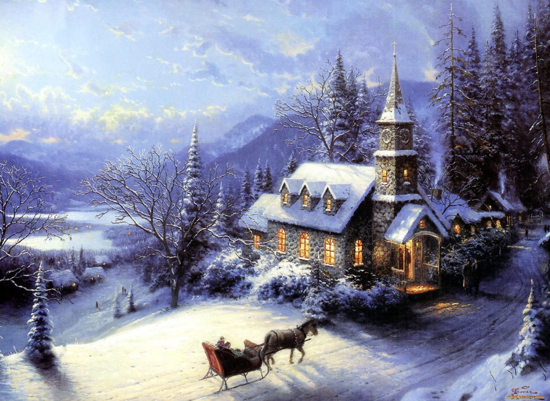 Картинки зима с новым годом на рабочий стол